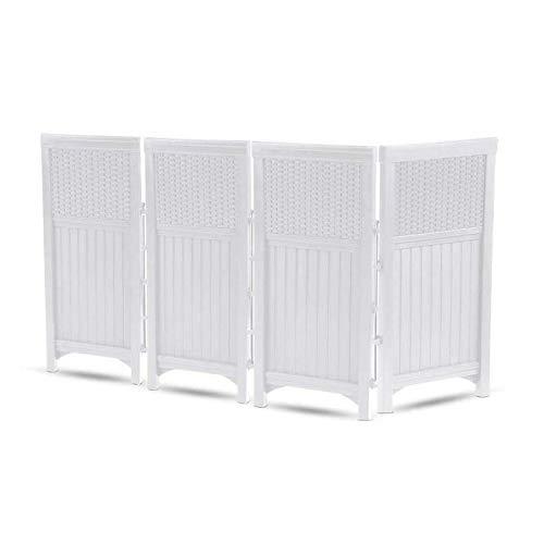 - Suncast FSW4423SW Yard Garden Decorative Outdoor Screen Enclosure Gate- White