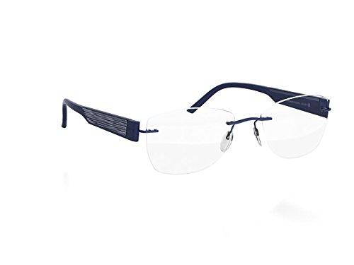 Silhouette 4447 Womens/Ladies Designer Rimless Titanium Eyeglasses/Eyewear (52-17-130, Navy)
