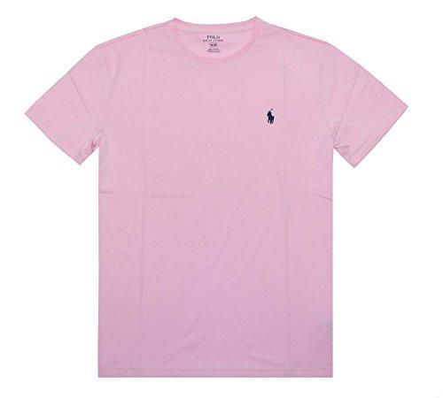 Polo Ralph Lauren Men's Crew Neck T-Shirt (Medium, Carmel Pink)