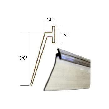 Angled Clear Vinyl Framed Shower Door Drip Sweep 36 In
