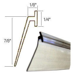 Angled Clear Vinyl Framed Shower Door Drip Sweep - 36-in long
