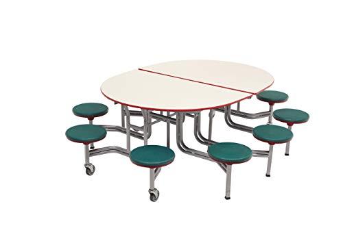 AmTab - MSE610 - Mobile Stool Table, Elliptical, 54