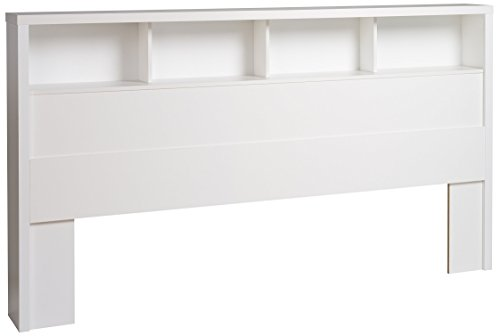 Prepac WHFK-0500-1 Calla Headboard, King, White (King Bookcase California)