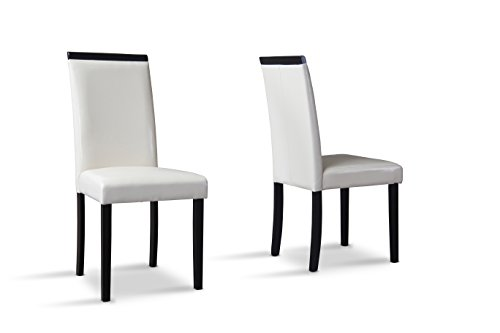 Baxton Studio Milano Dining Chair, Set of 2