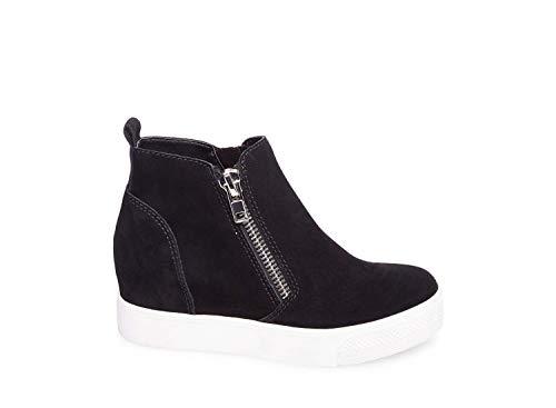 d65c095cfb0 Steve Madden Women s Wedgie Sneaker Black Suede 8 ...