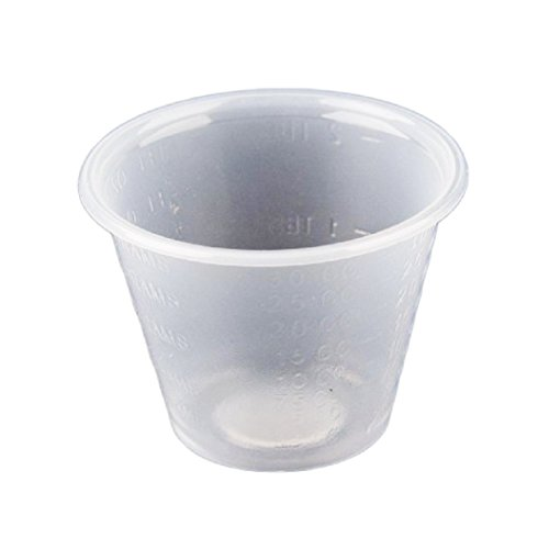 Medi-Pak Clear Polypropylene 1 oz Medicine Cups - Case of 5000 (100 per Sleeve, 50 Sleeves per Case)