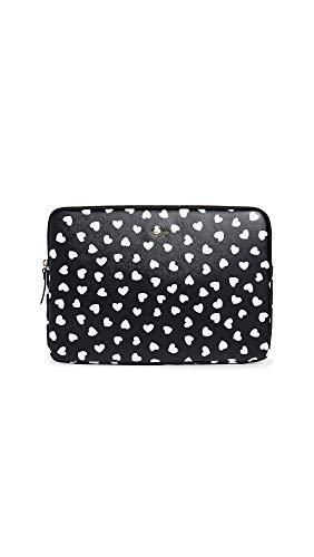 Kate Spade New York Heartbeat Universal Laptop Sleeve, Black/Cream, One ()