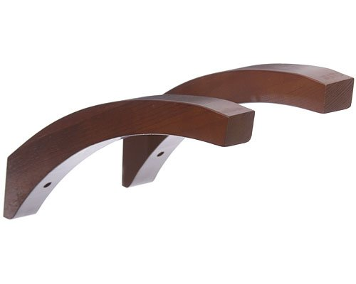 John Louis Home 12 Inch Angled Wood Shelf Brackets Red Ma...