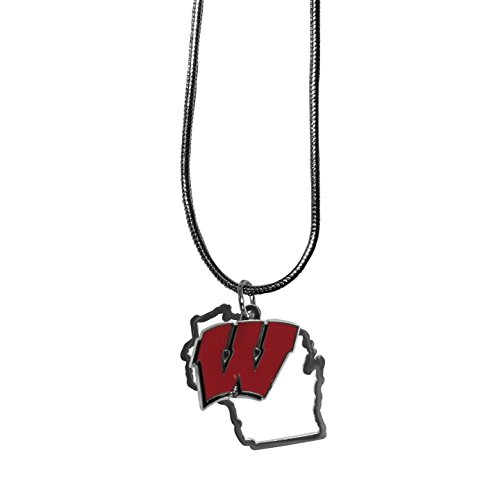 Siskiyou NCAA Wisconsin Badgers State Charm Necklace, 16