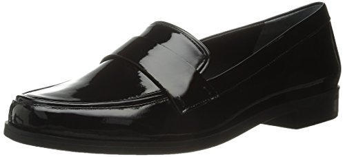 Franco Sarto Women's L-Valera Penny Loafer, Black, 8.5 M US (Franco Sarto Patent Leather Shoes)