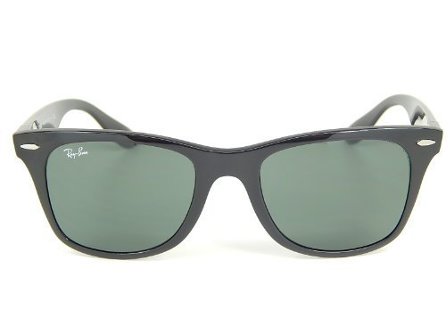 New Ray Ban Liteforce Wayfarer Tech RB4195 601/71 Black/Green 52mm - Liteforce Ban Ray Wayfarer