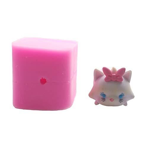(Mould Soap - Diy 3d Cute Cat Shape Cartoon Cake Soap Candle S - Cross Crystal Pinecone Moon Small Heart Large Plug Taper Aluminum Flower Mann Skull Dragon Light Pillar Tray Christ)