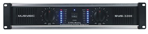 MUSYSIC 2 Channel 3200 Watts DJ PAProfessional Power Amplifier 2U Rack mount SYS-3200 by MUSYSIC (Image #1)