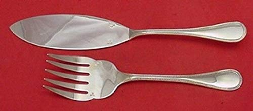 (Perles by Christofle Silverplate Fish Serving Set 2pc 11
