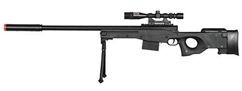 AirSoft P2703B L96 Black Spring Sniper Rifle Bolt Action AWP with Scope (Rifle Airsoft Bolt Action Cheap)