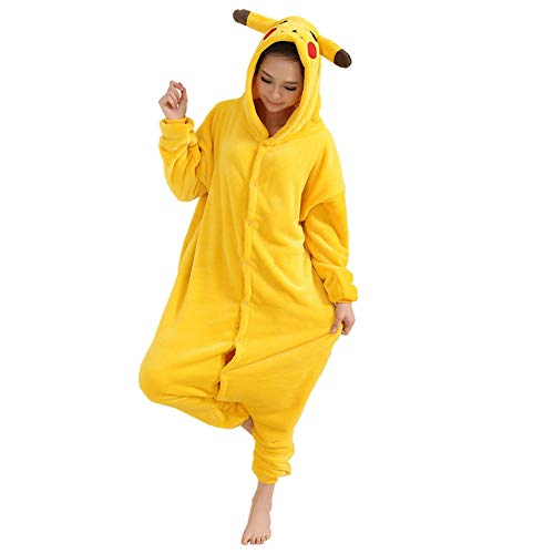 Afoxsos Adult Animal Pajamas Costume - Plush One Piece Cosplay Dinosaur Onesies Costume