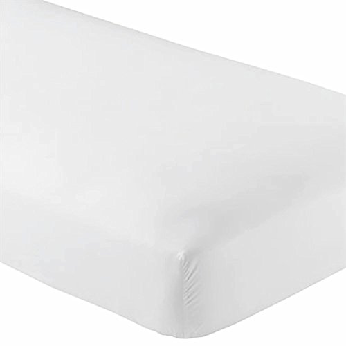 - Queen Fitted Sheet Only - Soft & Comfy 100% Cotton- By Crescent Bedding (Queen , White)