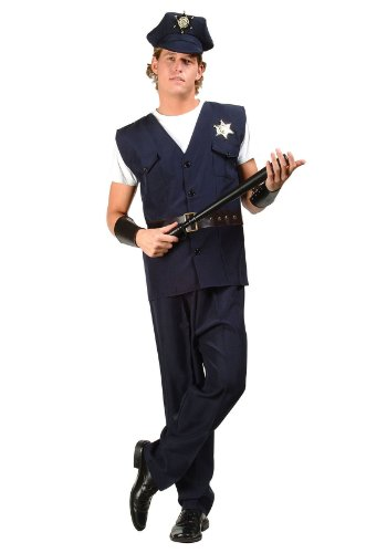 Law Enforcement Costumes (RG Costumes Police Man Costume, Plus Size)