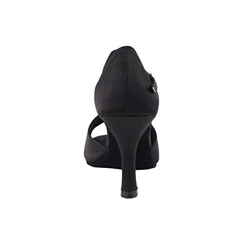 """50 Shades Of Black Tanzschuhe Sammlung I, Komfort Abendkleid Hochzeit Pumps: Frauen Ballroom Dance Schuhe für Latin, Tango, Salsa, Swing, Theater Kunst von Party-Party (2,5 """"& 3"""" Heels) 1609 - Schwarzer Satin"""