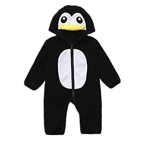 Spring Color  Cute Baby Hoodie Romper Penguin Outwearcartoon Babysuit Costume for Infant Toddler One Piece ()