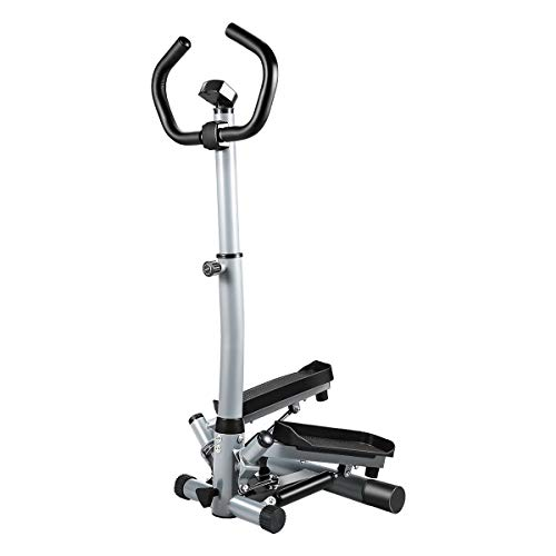 KUOKEL Mini Stepper,Fitness Stair Stepper - Portable Twist Stair Stepper Adjustable Resistance,Fitness Exercise Machine with Resistance Bands Durable & LCD Display and Comfortable Foot Pedals