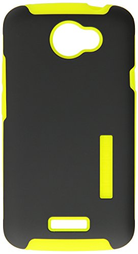 Incipio HT-285 SILICRYLIC DualPro Case for HTC One X - 1 Pack - Retail Packaging - Dark Gray/Neon Yellow (Case Polycarbonate Silicrylic)