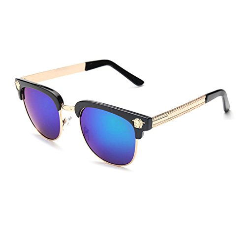 LIKEOY Men Half Frame Horn Rimmed Glasses UV400 Retro Sunglasses - Over Sunglasses Reviews Glasses