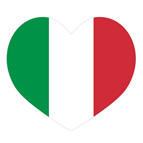 Applicable Pun Italian Flag Heart Italy - Vinyl Decal Sticker - 5 Inches Wide