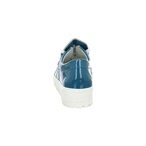 Mephisto Lady1179 - Zapatos de cordones de charol para mujer turquesa