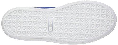 Sneakers peacoat Basses Femme White Platform Puma Suede puma peacoat Bleu BqwnaPC