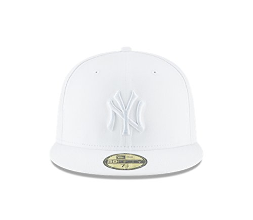 New Era New York Yankees White Primary Logo Basic 59FIFTY Fitted Cap White 7 3/4