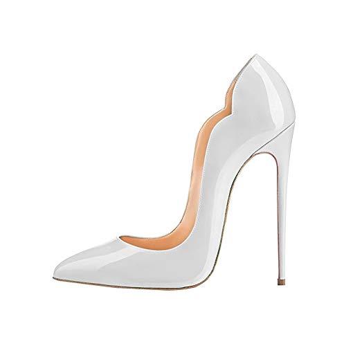 Zehe Lackleder Stilett Schuhe Bankett Schuhe Farbverlauf Spitze Lady's Einzelne Plattform Abendkleid Quecksilber Geschlossene SxRqBEZwH