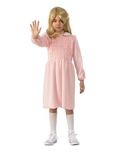 Rubie's Costume Co Girls Stranger Things Child's Season 1 Eleven Dress Costume, As Shown, Large ()