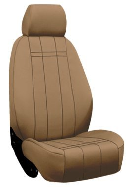 Neoprene Custom Fit Jeep Grand Cherokee Seat Covers (1999-2004) Rear Seat Set - Neo-Supreme in Solid Tan - 40/60 Split Folding Bench w/ Adjustable - Folding Split Bench 60