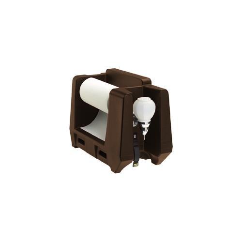 Cambro HWAPR131 Dark Brown Handwashing Station with Soap - Camtainer Brown