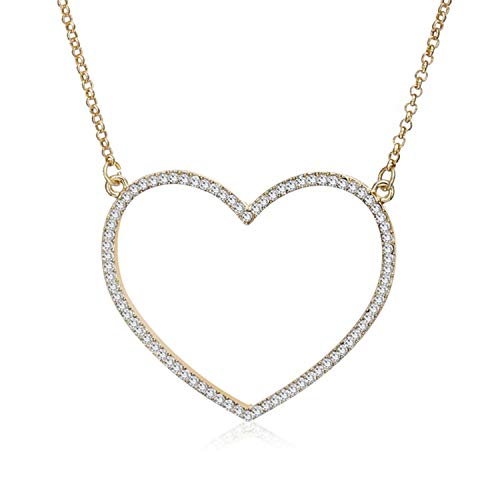 Big Heart Pendant Necklace Women Jewelry Birthday Party for sale  Delivered anywhere in Canada