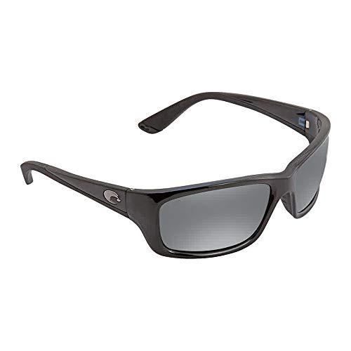Costa Del Mar Jose Sunglasses Shiny Black/Gray Silver Mirror 580Glass (Costa Del Mar José)