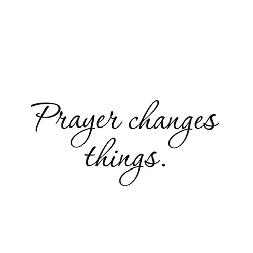 10' Sticker - CUGBO Prayer Changes Things Removable Art Vinyl Mural Home Room Decor Wall Stickers 22'' X 10''