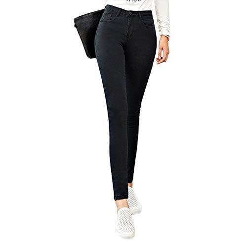 Delicacydex lastique Taille Denim Imitation pour Haute Mode Stretch Haute Femmes Crayon Jeans Leggings Mince Slim Skinny Jeans Pantalon Les rqArwI8