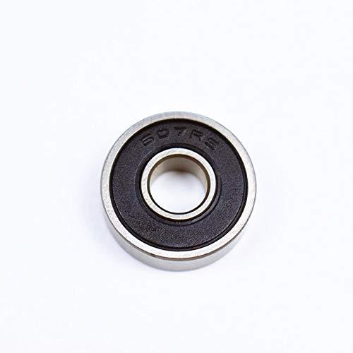 mm Ochoos 607RS 7196 ABEC-5 bearing10pcs Sealed Miniature Mini Bearing 607 607RS Chrome Steel Bearings - Outer Diameter: 19mm, Inner Diameter: 7mm