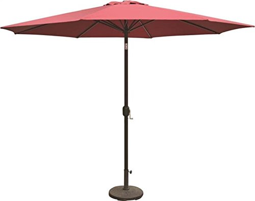 SEASONAL TRENDS 69336 Essential Patio Umbrella 5.91 in L x 5.91 in W x 67.32 in H Polyester Burgundy by SEASONAL TRENDS