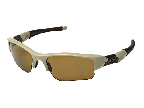 Oakley Flak Jacket XLJ Polarized Sunglasses Desert Tan Frame / Bronze Polarized Lens 53-100 (Jacket Xlj Flak Oakley)