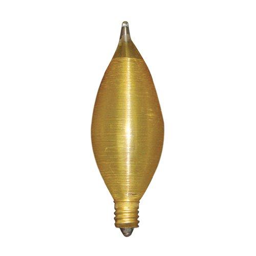 Amber Chandelier Incandescent (Bulbrite 25C11A Spunlite Chandelier 25W Amber, Candelabra Base)