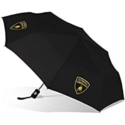 7fecf45331eb6 Automobili Lamborghini Accessories Compact Gold Umbrella One Size Black