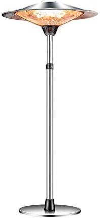 屋外パティオヒーター、3つの電源設定、高さ調整可能、傾斜電源障害保護設計