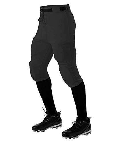 Adult Practice Football Pants - Alleson Athletic ADULT PRACTICE FOOTBALL PANT BLACK M 610SL 610SL-BK-M