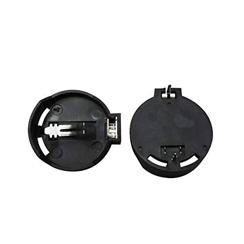 50//100PCS Black Plastic CR2032 Cell Coin Battery Button Socket Holder Case