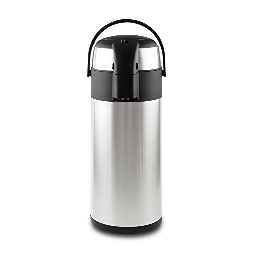 Pioneer - Termo de Acero Inoxidable con dispensador de te y cafe, Acero Inoxidable, Satin Finish, 3 L