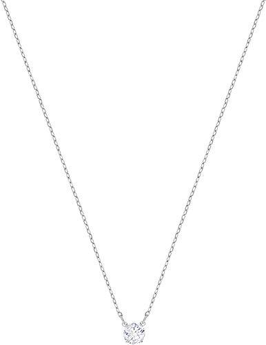 Swarovski Attract Round Halskette, Weiss, Rhodiniert