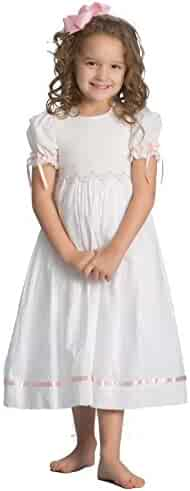 8f0935070fa Strasburg Children Girls Smocked Dress Summer Dress Flower Girl Birthday  Portrait White Pink